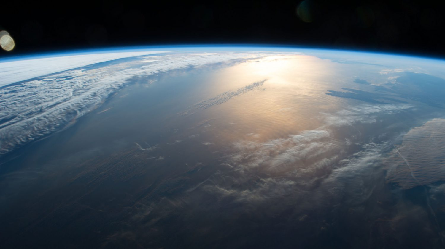 Our planet from the space station